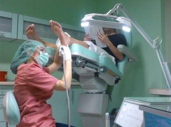 Leczenie i pielęgnacja stóp, w trakcie zabiegu