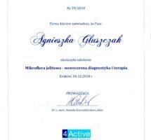 Certyfikat, Mikroflora jelitowa
